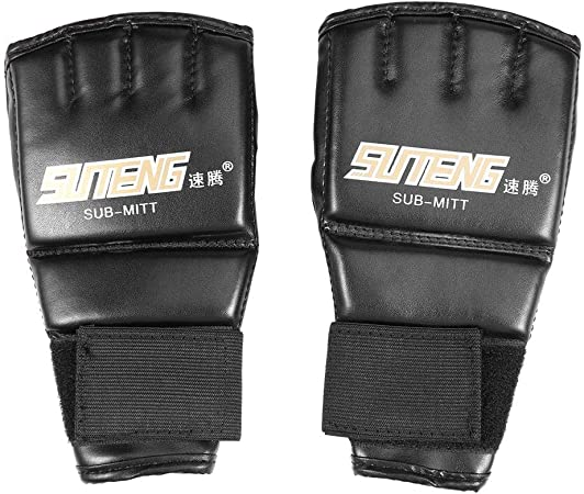MMA Boxing Gloves Half Mitts Mitten Muay Training Punching Sparring Kickboxing
