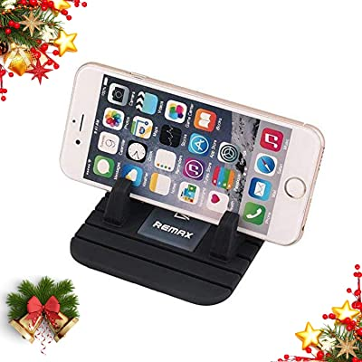 Remax Car Phone Holder, Car Phone Mount Silicone Phone Car Dashboard Car Pad Mat Various Dashboards, Anti-Slip Desk Phone Stand Compatible for All Cellphones, Smartphones (Black): Beauty