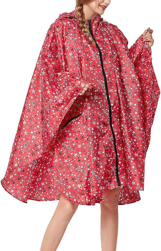Lemooner Damen Windjacke Regenjacke Regenparka Regenmantel Wassers/äule Vier Jahreszeiten Atmungsaktivit/ät Outdoorjacke Jacke mit Kapuze Taschen haben mit Taschen Erweitert Einfarbiger Wellenpunkt