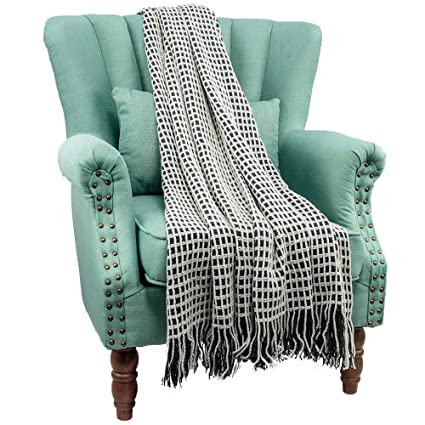 Astounding Amazon Com Home Delia Knit Throw Blanket Soft Warm Textured Ncnpc Chair Design For Home Ncnpcorg