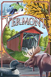product image for Vermont Scenes (9x12 Art Print, Wall Decor Travel Poster)