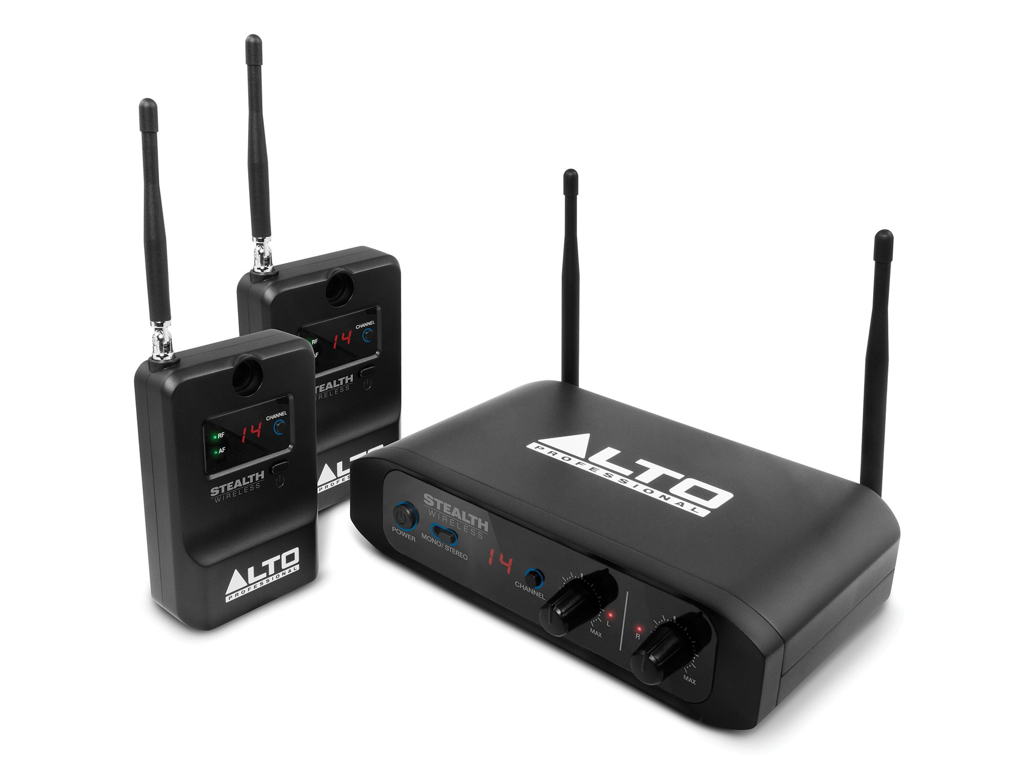 Alto Professional Stealth Wireless | Stereo Wireless System for Active Loudspeakers (Transmitter + 2 Receivers)