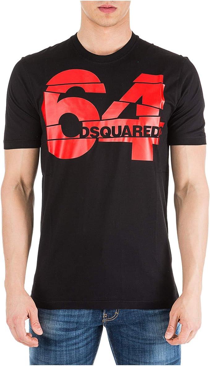 DSQUARED2 Camiseta 64 Hombre Nero XL: Amazon.es: Ropa y accesorios