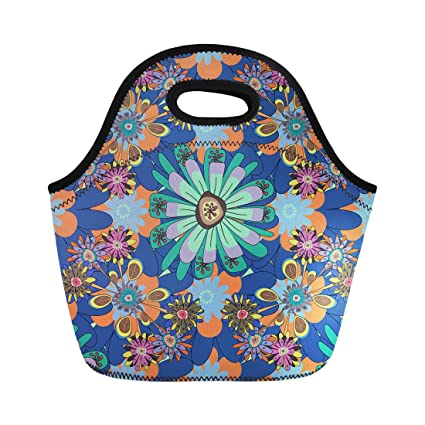 8b580c995152 Amazon.com: Semtomn Lunch Tote Bag Floral Pattern Fills Decoupage in ...