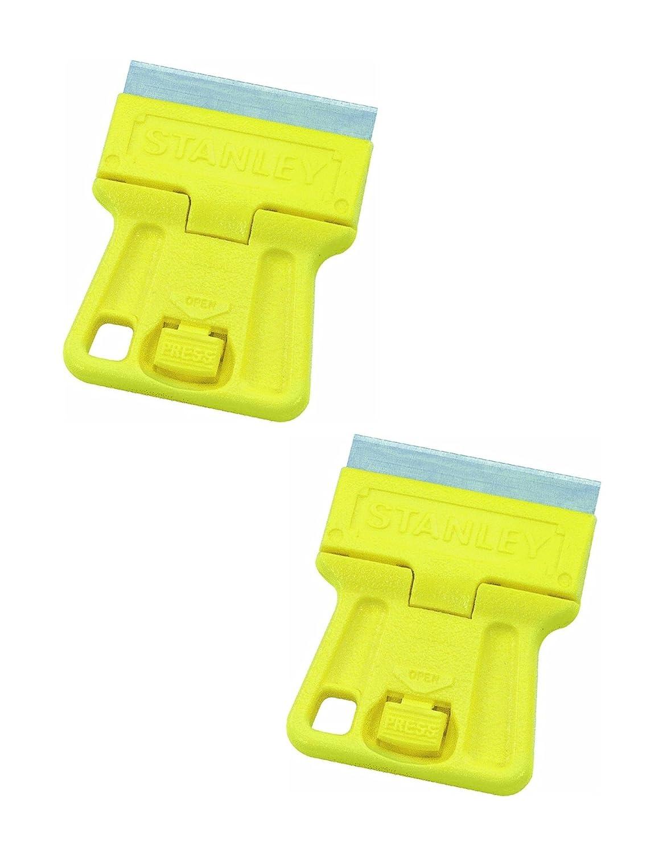 "Stanley 28-100 1-3/16"" High Visibility Mini Razor blade scraper,yellow,2"