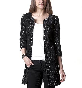 Anglaise Veste Promod Longue Noir Vêtements Broderie 40 qnUR6xpfn4