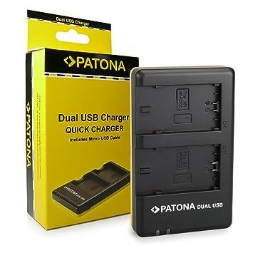 PATONA Cargador de batería doble para Bateria NP-FZ100 adecuado para Sony Alpha 9/Alpha 7RM3/7M3/A7 R III/BC-QZ1