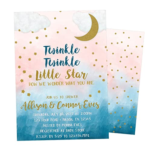 Amazoncom Gender Neutral Baby Shower Invitation Twinkle Twinkle