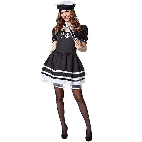 dressforfun 900505 Disfraz de Mujer Marinera, Disfraz Ceñido en ...