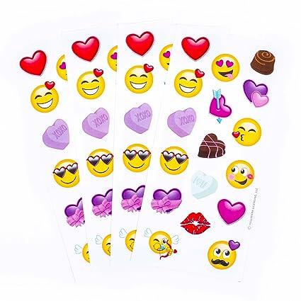 Amazon Com Hallmark Valentine S Day Stickers Emojis Kitchen Dining