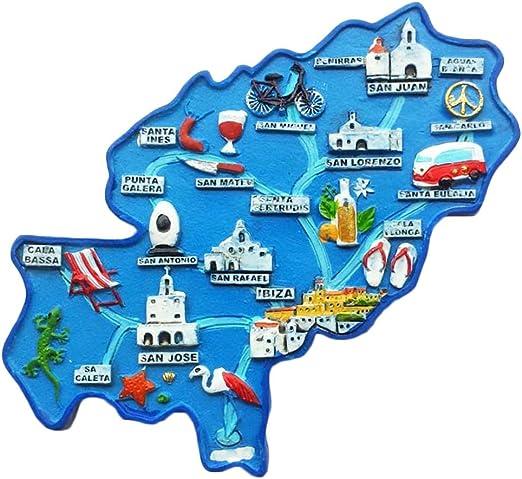 Mapa España Imán de nevera 3d Viaje Adhesivo Souvenirs Collection ...