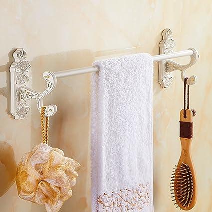 Continental bar retro toalla/pintura blanca a la plancha barra de toalla individual/toallero