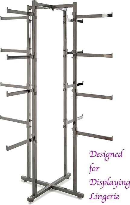 Chrome Clothing Shop Display Rail Lingerie Tower