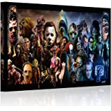 "HAOSHUNDA Horror Movies Oil Painting on Canvas Posters and Prints Decoracion Wall Art Picture Living Room Wall (12"" x 18"", Artwork - 05)"