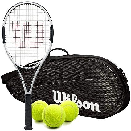 """Wilson H6 Pre-Strung Recreational Tennis Racquet (4 1/2"""" Grip)"""