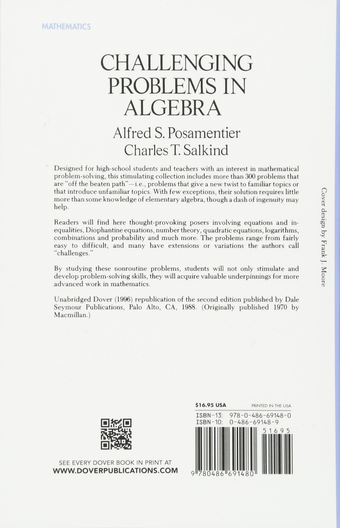 Challenging Problems in Algebra (Dover Books on Mathematics): Amazon ...