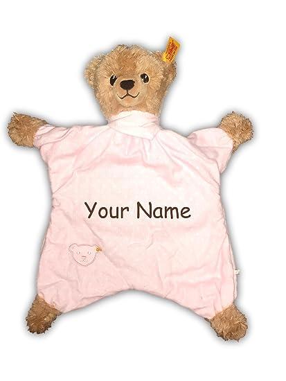 Amazon.com: Duerme bien oso personalizado bebé niña rosa de ...