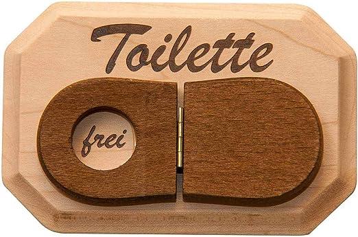 frei Türschild aus Holz WC besetzt