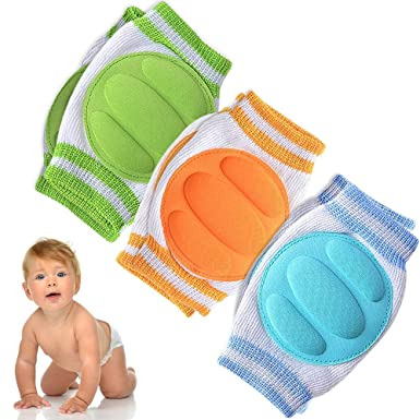 7f3b479d9 Baby Knee Pads for Crawling (3 Pairs) - Adjustable Breathable Waterproof  Safety Protector for Babies, Toddlers, Infants, Boys, Girls, Kids