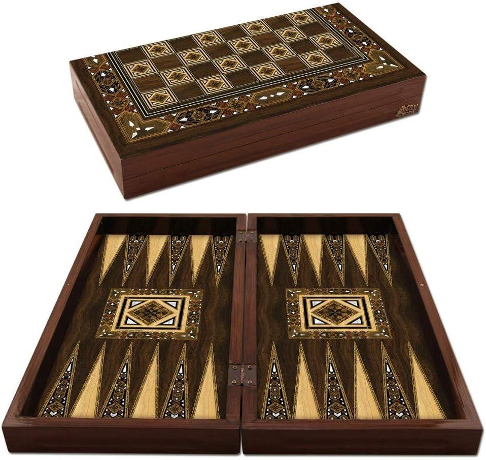 Wooden Backgammon Game Set Turkish Premium Board Game Set