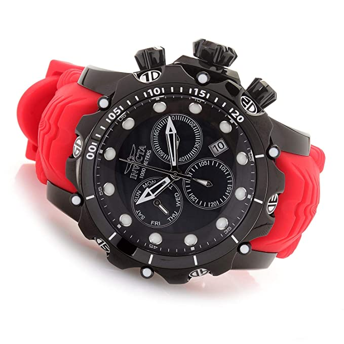 Invicta Venom Reloj de Hombre Cuarzo Suizo Correa de Silicona Color Rojo 26247: Amazon.es: Relojes