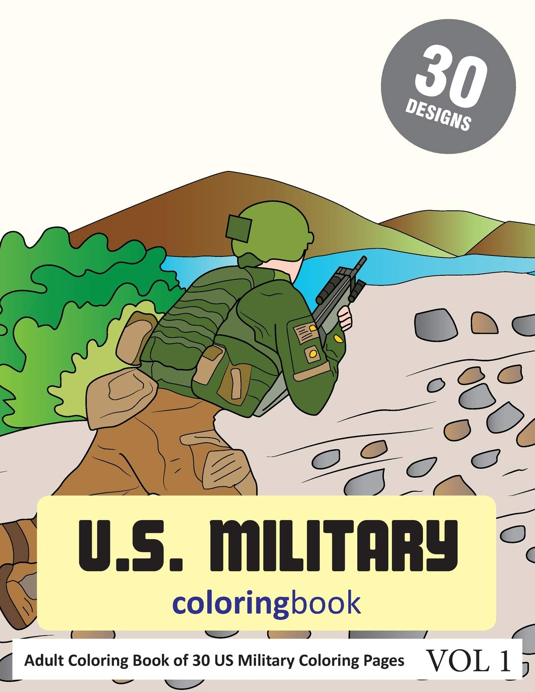 Amazon.com: US Military Coloring Book: 30 Coloring Pages of ...