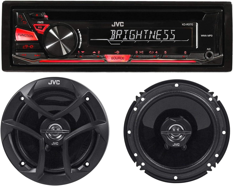 JVC接收器与两个无线6.5英寸扬声器