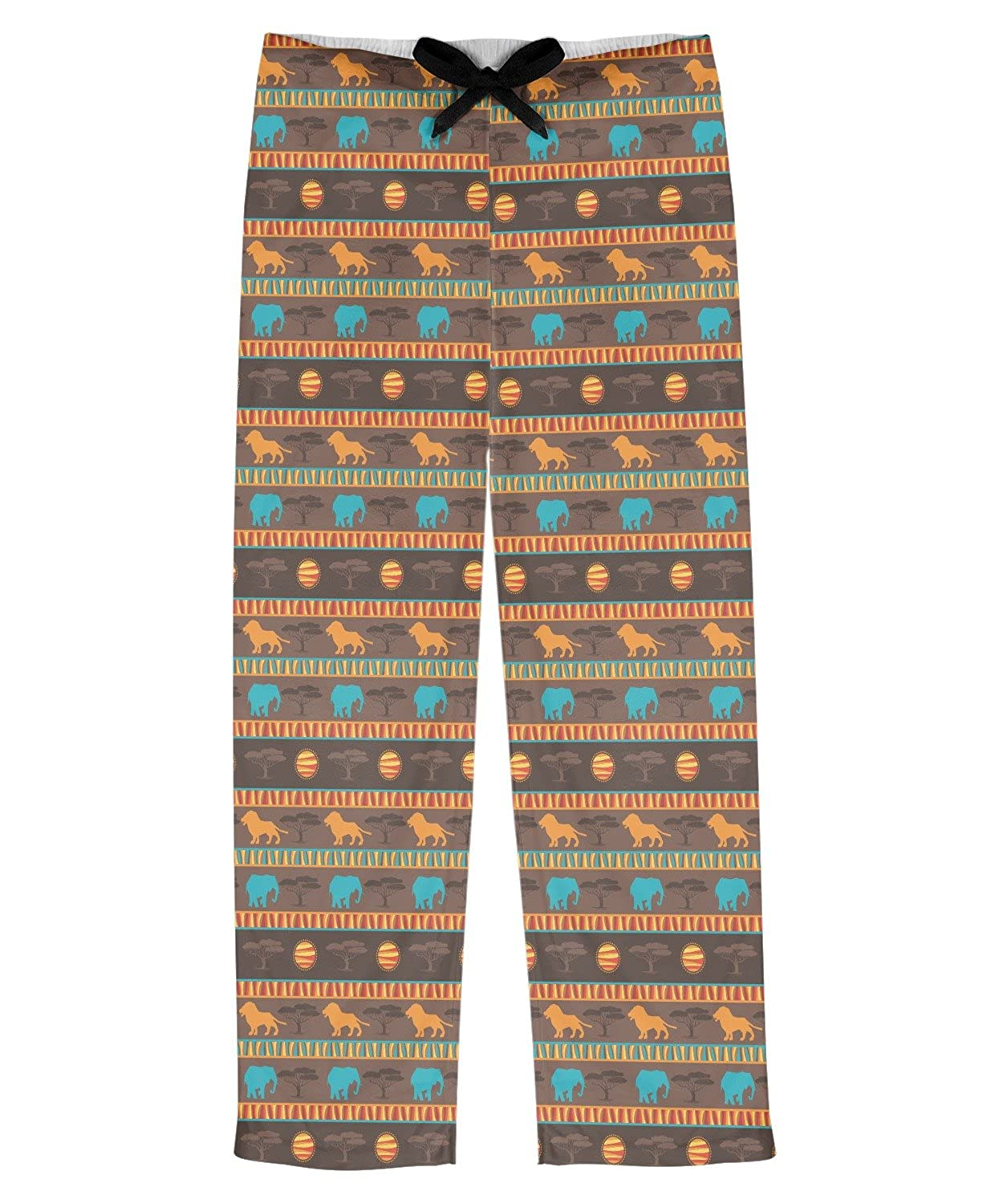 RNK Shops African Lions /& Elephants Mens Pajama Pants Personalized