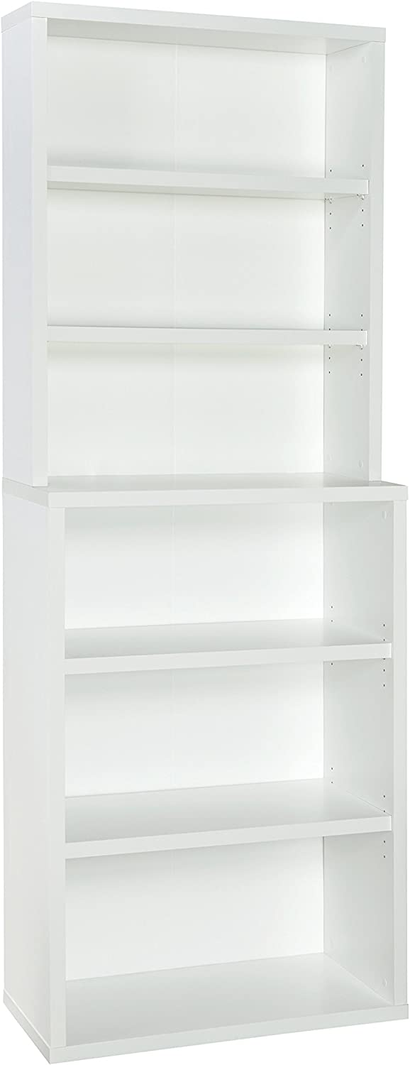 4-Adjustable Shelves Wood White x 30 in ClosetMaid Hutch Storage Unit 82 in