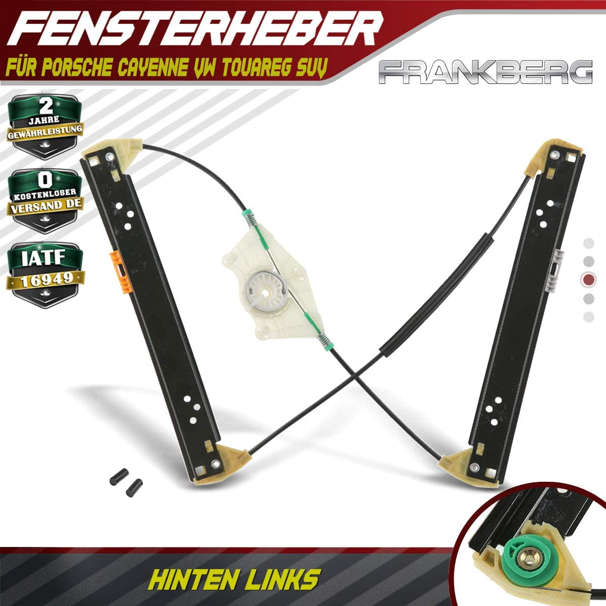 Window Regulator Without Motor Rear Left for Cayenne 955 Touareg 7LA 7L6 7L7 4//5 Door 2002//09-2010//09
