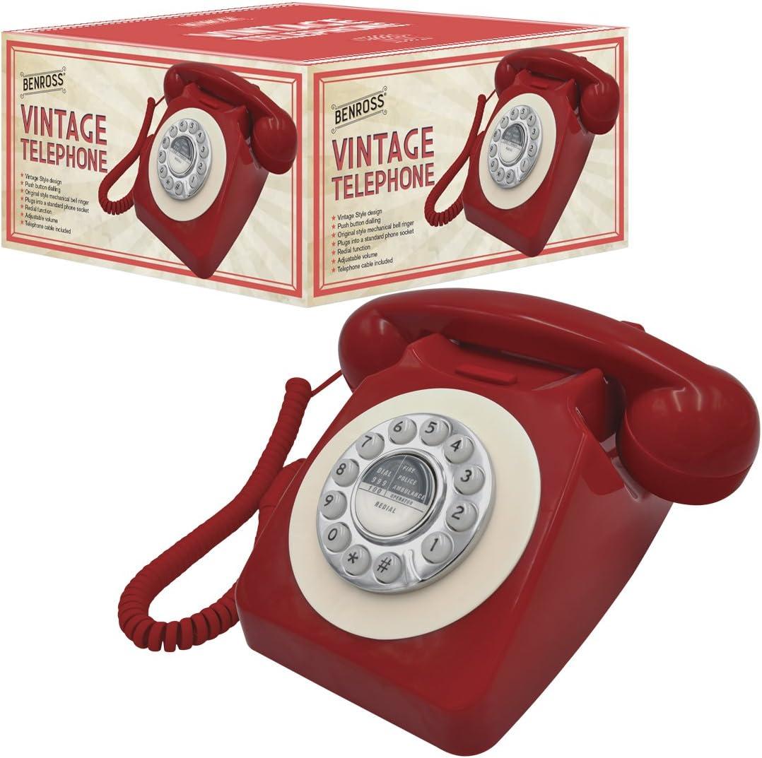 Black Benross 44520 Classic Retro Vintage Style Home Telephone