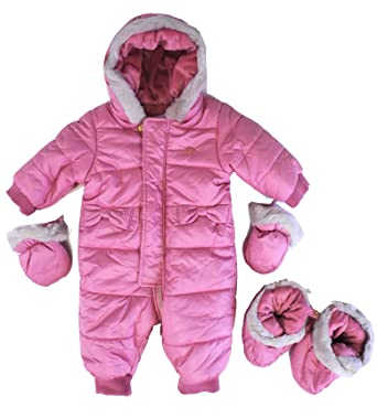 a52d7fb63 Amazon.com: Mayoral Pink Snowsuit (6 months): Clothing