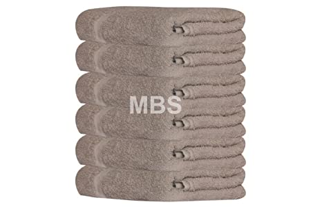 MBS - Juego de 6 Toallas de baño de algodón, Toalla de Ducha ...