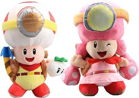 "Artwork of Toadette for Captain Toad Treasure Tracker Super Mario Plush Toy 8/"""