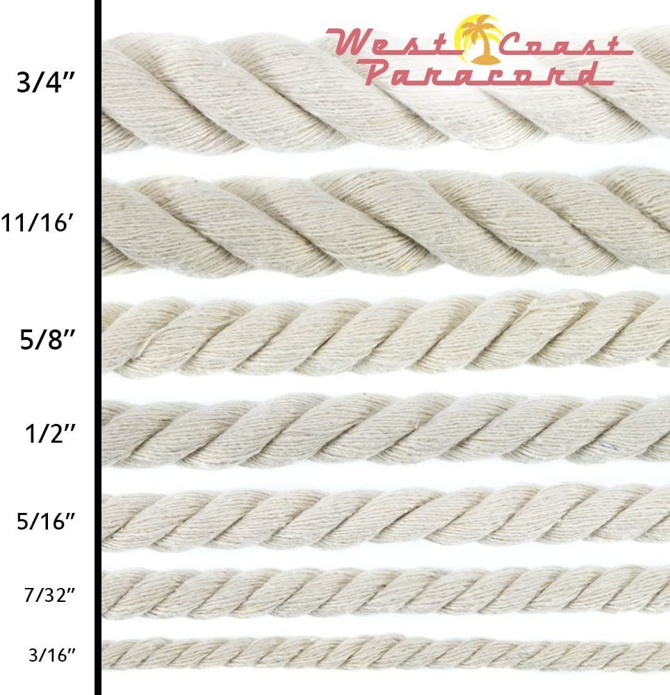 Crafting Original Natural Cotton Rope DIY Handmade Projects 5//16 Inch x 10 Feet