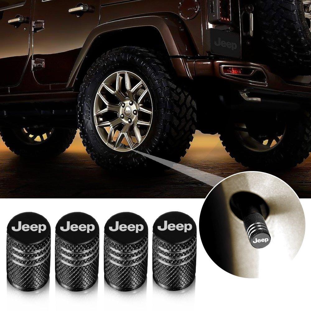 Tapacubos de válvula, Jeep, tapas de neumáticos para coche, moto, camión, bicicleta y bicicleta, aluminio, 4 unidades: Amazon.es: Coche y moto