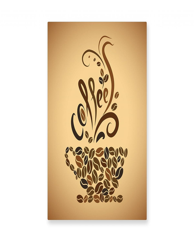 Amazon.com: Lunarable Coffee Wall Art, Coffee Beans Featured Mug ...