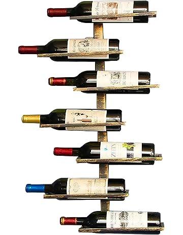 Botellero para vinos de pared vintage retro para restaurantes, bares, mobiliario diario del hogar