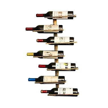 Vintage Retro Wall Mount Wine Rack for Restaurants, Bars, Daily Home furnishings etc (Hold 7 bottles)