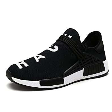 c74bbc96f Mens Womens Unisex Lightweight Fashion Sneakers Breathable Lace-up Athletic  Sports Shoes Human Race Casual