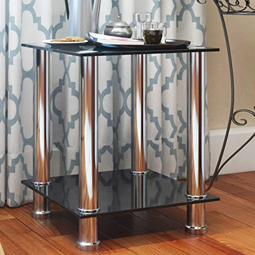 Sofa Side Table,Rolling End Table C Shaped Couch Table Adjustable Laptop PC Computer Table Stand Desk Movable Bedside Tray Home Living Room Bedroom Furniture Decor Workstation Writing Desk Wood Black