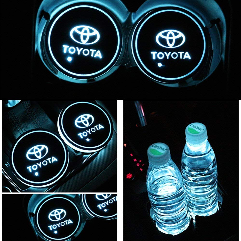 2pcs LED Auto Cup Halter Matte Pad Wasserdicht Flasche Getr/änke Untersetzer f/ür Universal Auto zur Autodekoration Stimmungslicht Innenraumbeleuchtung wasserdicht Nissan