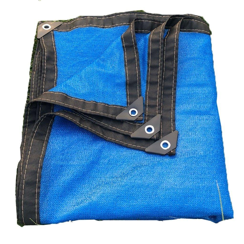 Shading net Fashion capital Rete Parasole Coperta Rete Solare Blu Rete Rete Isolante 8 Pin ombreggiata Balcone Piscina Piscina Fiore Ombra carnosa (Dimensioni   3  4m)