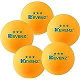 Lot de 50kevenz 3étoiles exercice Balles de tennis de table PING PONG longue durée (Orange, Blanc)