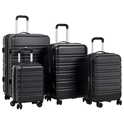 "Murtisol Travel 4 Pieces Expandable ABS Luggage Sets TSA Lightweight Durable Spinner Suitcase 16"" 20"" 24"" 28"""