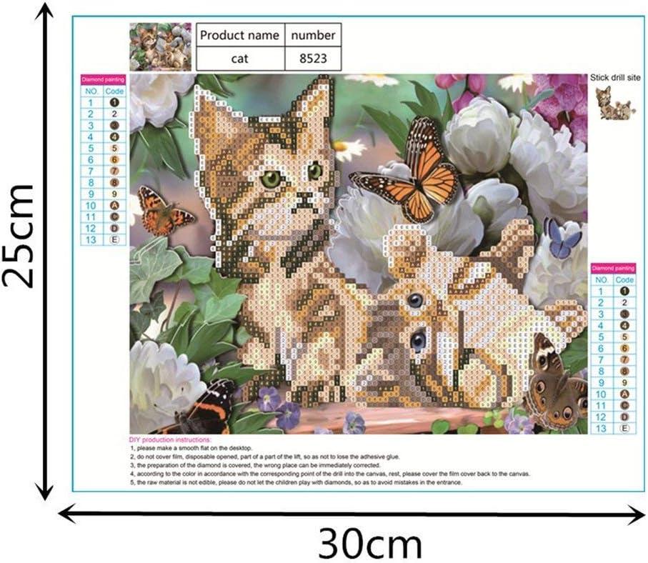 VIGE Cat Diamond Stickpackung Cross Stitch Home Decoration bunt
