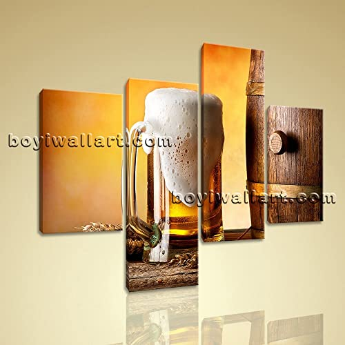 Amazon.com: Large Food And Beverage Canvas Art Beer Wall Painting ...