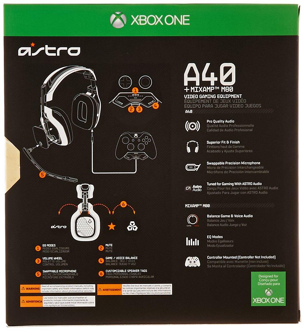 Astro 3AS42-MSU9H-500 - Auriculares de diadema cerrados (con microfono) A40 y decodificador de audio MixAmp Pro M80 Halo, negro y gris y azul: Amazon.es: ...