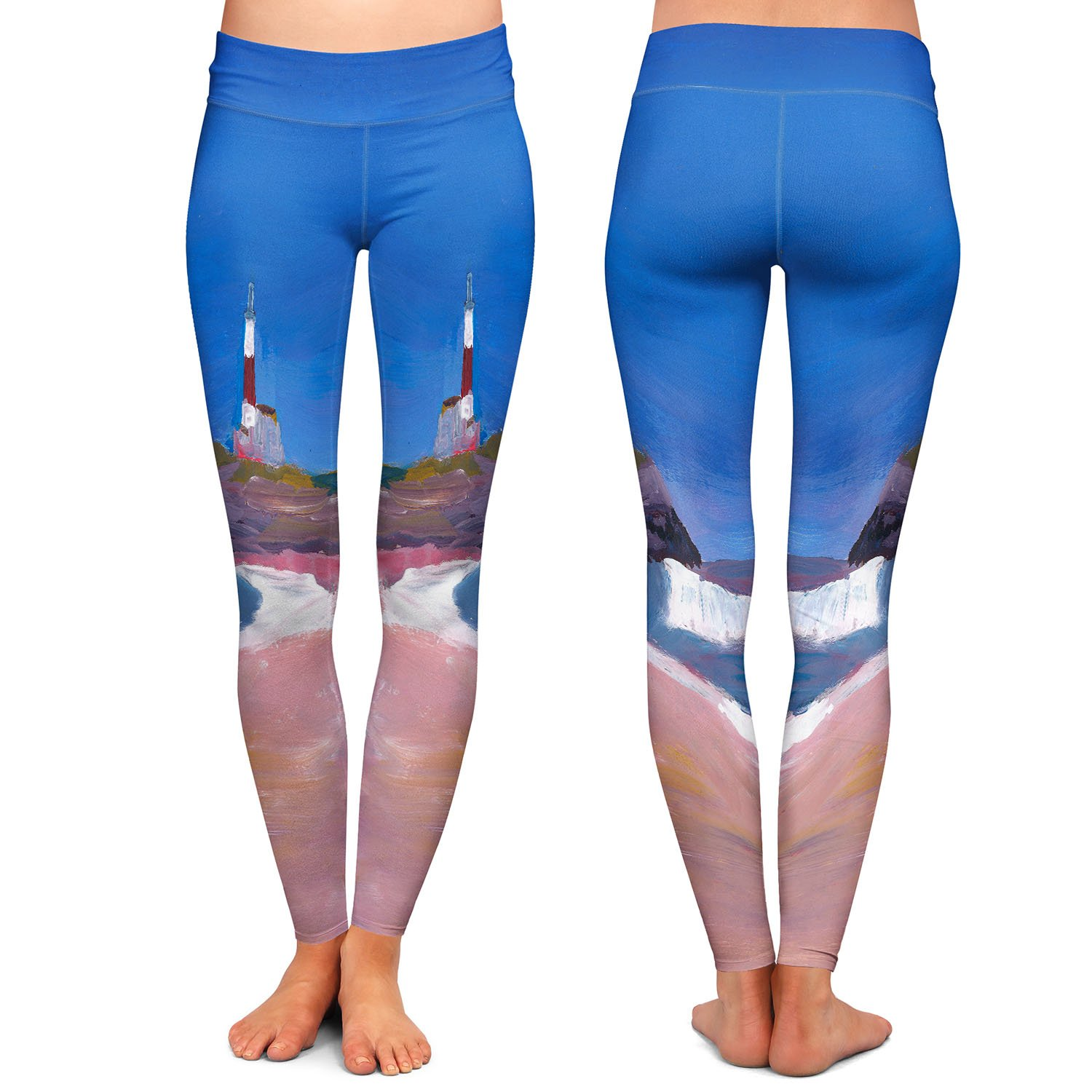 Lighthouse 1 Athletic Yoga Leggings from DiaNoche Designs by Markus Bleichner