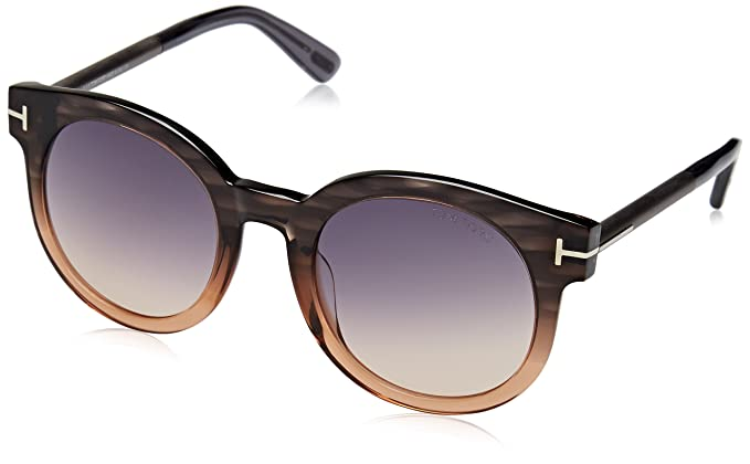 Amazon.com: Tom Ford anteojos de sol TF 435 Janina anteojos ...